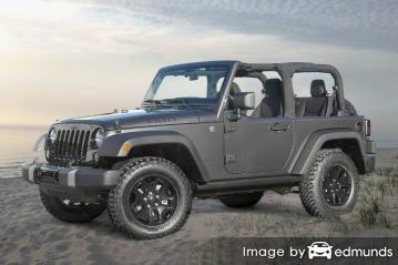 Insurance quote for Jeep Wrangler in Philadelphia
