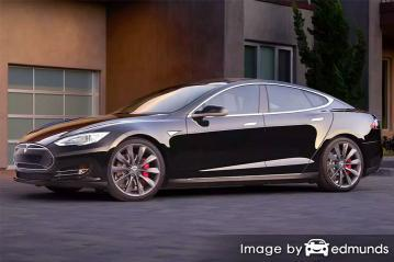 Insurance quote for Tesla Model S in Philadelphia